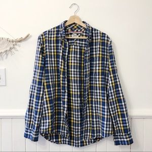 Tommy Hilfiger Blue and Yellow Button Down